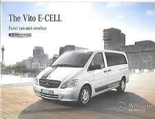 Mercedes Benz Vito E-CELL Panel Van et Crew Bus truck camion sales brochure 2012