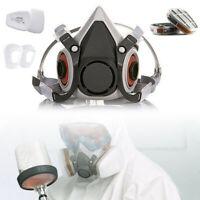 Atemschutz Halbmaske für 3M Staubmaske Gasmaske mit Wechselfiltern Lackiermaske