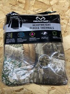 RealTree Heavy Weight Camouflage Fleece Thermals Crew Top XL