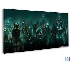 Rapture City In The Bioshock Fantasy Art Canvas Print Wall Art Picture