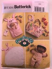 Vintage Butterick 5304 Cabbage Patch Kits Bath Item & Clothes Pattern - Uncut