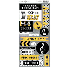 """6""""x12"""" MUSIC IN ME Sticker  Band Camp Chorus Gee Theatre Thespian Clarinet Flute"""