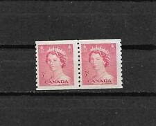 pk29492:Stamps-Canada #332 Karsh Queen 3 cent Coil Pair - MNH