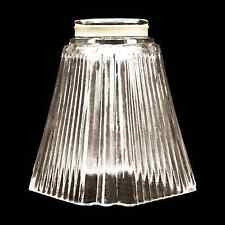 Square Glass Shade Vanity Ceiling Fan Replacement Globe Ribbed Pyramid 328-08