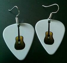 Guitar Pick Earrings, Acoustic Guitar