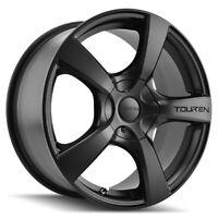 "4-Touren TR9 16x7 5x112/5x120 +42mm Matte Black Wheels Rims 16"" Inch"