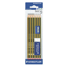 Staedtler Noris Pencil Set HB 10x Pencils 1x Eraser 1x Sharpner Free Delivery