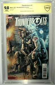 THUNDERBOLTS #7 (2017) CHECCHETTO SIGNED SS 1:25 CBCS 9.8 WINTER SOLDIER VARIANT