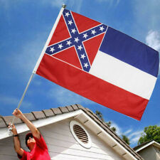 3x5ft Strong Mississippi State Flag Eco-friendly Dyestuff Parties Decor