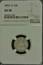Liberty Seated Silver Dime. 1841 O. NGC AU 58  Lot # 4495091-002