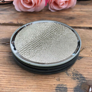 S/4 Vintage Gold Textured Mirrored Glass Drinks Coffee Cup Table Mats Coasters