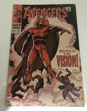 AVENGERS 57 1ST APPEARANCE THE VISION The Avengers Marvel Key Issue Comic