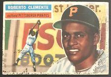 1956 Topps Roberto Clemente #33, White Back. No Creases Baseball Card. Bob