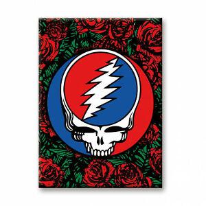 Grateful Dead Roses Logo Magnet Multi-Color