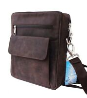 Mens Real Distressed Leather Messenger Bag Man bag Shoulder Utility Vintage Bag