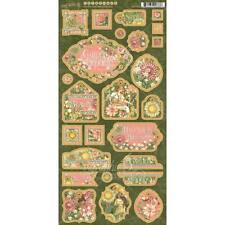 Graphic 45 - Garden Goddess Collection - Chipboard Die-Cuts