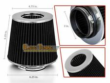 "3"" Short Ram Cold Air Intake Filter Round/Cone Universal BLACK For Jeep 1"