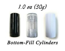 Empty Plastic Deodorant Containers - (Fancy) Reusable, Bottom-Fill 1.0 oz