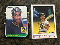 Barry Bonds 2-card Lot 1) 1987 Donruss #361 1)1991 Fleer Pro-Visions 1/4