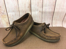 CLARKS Wallabees Chukka 38257 Brown Leather Beeswax $120 Womens 7.5M H11(5)