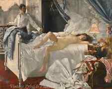 Rolla by Henri Gervex - Art Sleeping Woman Nude Bed Man Morning 8x10 Print 1000