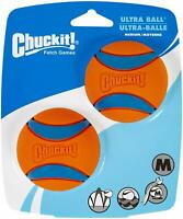"BRAND NEW Chuckit! Ultra Dog Fetch Pet Ball Medium 2.5"" 2 Pack Orange/Blue"