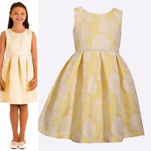 RINGAROSIES AGE 5 Lemon Easter  Occasion Dress Summer Pearl YELLOW Party
