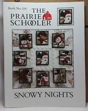 Snowy Nights Prairie Schooler Cross Stitch Pattern Cardstock OOP BK 166 New
