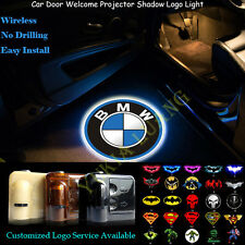 2x BMW Logo Wireless Car Door Welcome Laser Projector CREE LED Lights Universal