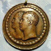 Medaille 1818 König F. Wilhelm Preussen & Zar Alexander I. Denkmal Sieg NAPOLEON