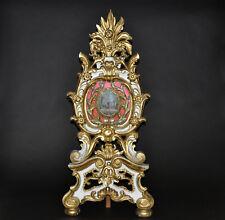 Standreliquiar,um 1750, blattvergoldet,holzgeschnitzt,religiöse Motive, 97/44 cm