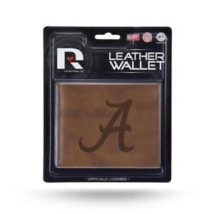 Alabama Crimson Tide Embossed Brown Leather Billfold Wallet