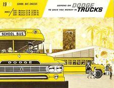 1960 Dodge School Bus Chassis Models S400 S500 S600 Dealer Sales Brochure