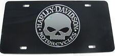 WILLIE G HARLEY-DAVIDSON MOTORCYCLES LICENSE PLATE BLACK SKULL BIKER SIGN L265