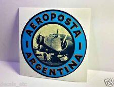 Aeroposta Argentina Vintage Style Travel Decal / Vinyl Sticker, Luggage Label