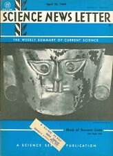 1964 Science News Letter Vol.85 No.17: Mask of Ancient Gold/Water Vapor on Venus