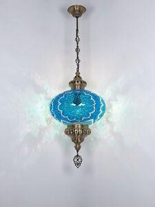 Turkish mosaic pendant lamp big globe ceiling moroccan light