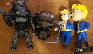 Funko pop Vault Tech Fallout 4 bobble head Bethesda + power armor figures