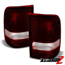 "1993-1997 Ford Ranger ""Dark WINE RED"" Rear Brake Signal Tail Lights Tail Lamps"