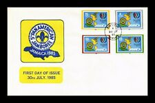 Dr Jim Stamps Fifth Pan American Jamboree Fdc Combo Jamaica European Size Cover