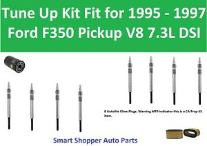 Air Filter, Oil Filter, Spark Plugs Tune Up For 1995 1996 1997 Ford F350 V8 7.3L