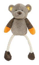 Rosewood Teddy Twister Dog Toy | Mr Twister Plush Rope Soft Medium Large Brown