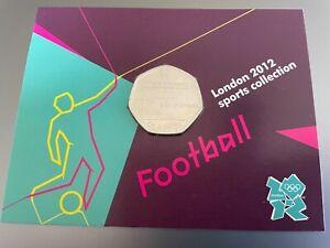 FOOTBALL ROYAL MINT DISPLAY CARD 2012 OLYMPICS WITH 50p COIN MINT RARE