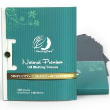 Premium Facial Oil Blotting Paper, 200 Counts - Natural Bamboo Charcoal Face Blo