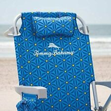Tommy Bahama Back Pack Beach Chair Folding Backpack Deck Chair - Blue