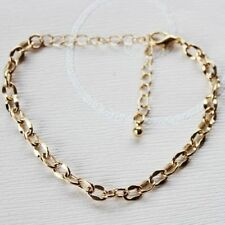 Exquisite WOMEN's 18K Yellow Gold Filled Bracelet curb Chain BEAUTIFUL CHEAP NEW