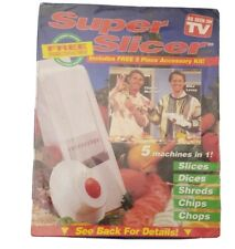 Seen On TV Super Slicer 5 In One Machine Slice Dice Chip Chop Shred Sealed NIB