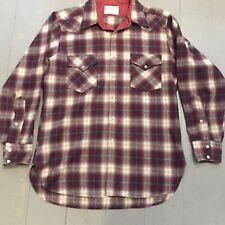 Vintage 1970s Pendleton plaid High Grade Westernwear Shirt L