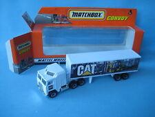 Matchbox Convoy Kenworth Box Truck Cat Caterpillar Boxed Toy Model