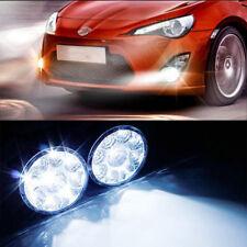 2Pcs White 12V 9 LED Round Daytime Running Light DRL Car Fog Day Driving Lamp